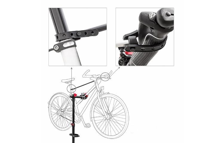 stand per riparazione manutenzione bicicletta