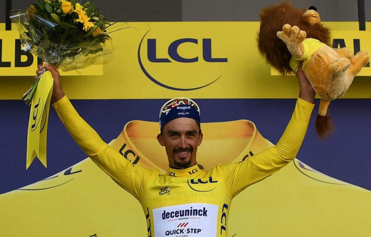 Julian Alaphilippe, ciclista Deceunink Quick-Step, primo giorno di riposo, Tour de France 2019